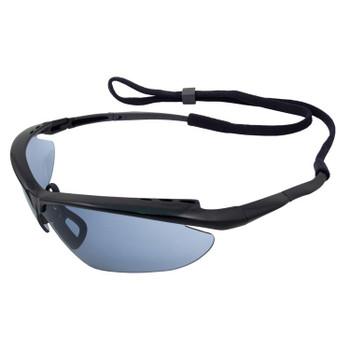 16858 ERB Maltese Black frame, Light Blue Mirror lens Eye Protection