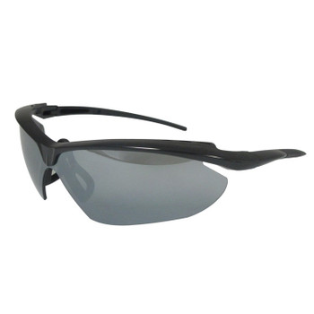 17977 ERB Nightfire Black frame, Silver Mirror lens Eye Protection