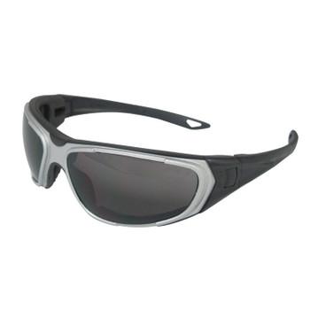 18001 ERB NT2 Solid foam liner, Gray frame, Smoke Anti-fog lens Eye Protection