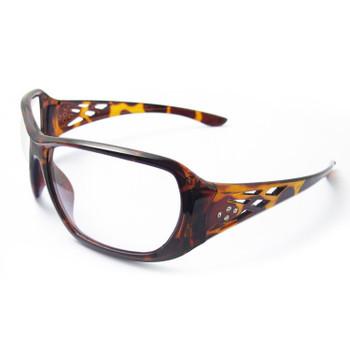 17956 ERB Rose Tortoise Shell frame, Clear lens Eye Protection