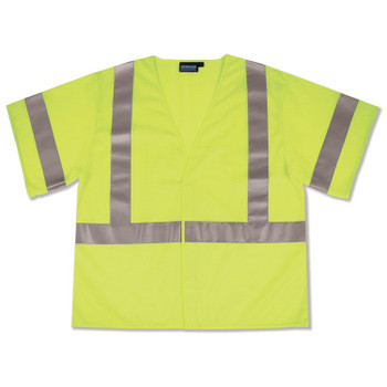 Yellow 4XL ERB Safety Products 63605 ERB 9604SBC HVL Short Sleeve Contrasting Trim Class 2