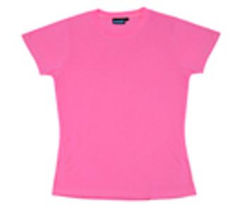 61287 ERB 7000 Non ANSI Ladies T-Shirt Jersey Knit in Pink Safety Apparel - Aware Wear & Hi Viz Ts