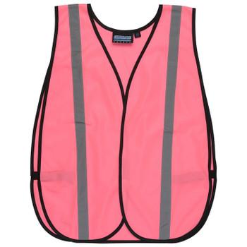 61728 ERB S102 Non-ANSI Pink Vest OSFM Safety Apparel - Aware Wear & Hi Viz Ts