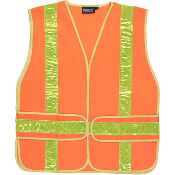 61730 ERB S104 Class 2 Tricot Chevron Expandable VestOne Size Fits Most Safety Apparel - Aware Wear & Hi Viz Ts