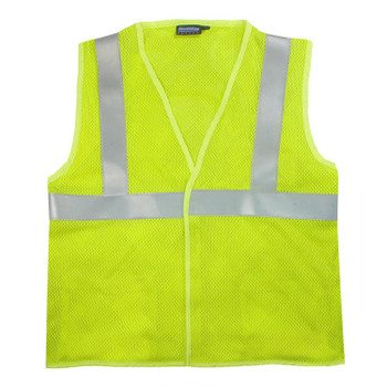61257 ERB S153 Class 2 Flame Resistant Mesh Modacrylic Anti-Static Hi Viz Lime XL Safety Apparel - Aware Wear & Hi Viz Ts