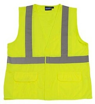 65017 ERB S190 Class 2 Fame Retardant Treated Vest Hi Viz Orange Medium Safety Apparel - Aware Wear & Hi Viz Ts