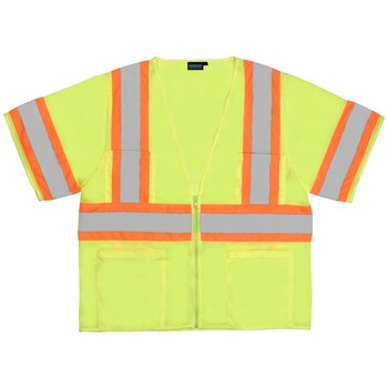 62139 ERB S683P Mesh Contrasting Trim Hi Viz Lime 2X Safety Apparel - Aware Wear & Hi Viz Ts