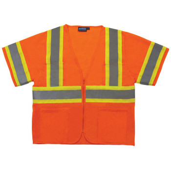 62149 ERB S683P Mesh Contrasting Trim Hi Viz Orange 5X Safety Apparel - Aware Wear & Hi Viz Ts