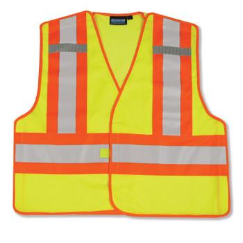 61220 ERB S345 PSV Break-Away Hi Viz Lime 3X Safety Apparel - Aware Wear & Hi Viz Ts