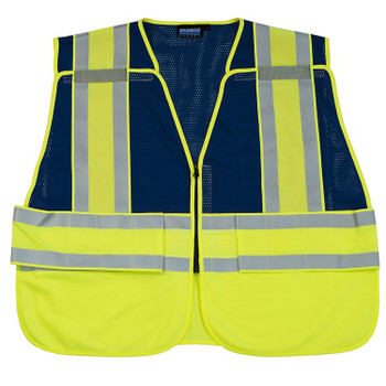 61247 ERB S340 PSV Break-away Blue M/XL Safety Apparel - Aware Wear & Hi Viz Ts