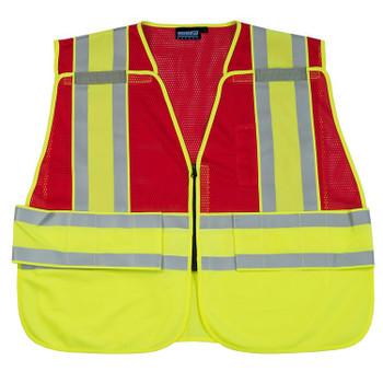 61250 ERB S340 PSV Break-away Red 2X/5X Safety Apparel - Aware Wear & Hi Viz Ts