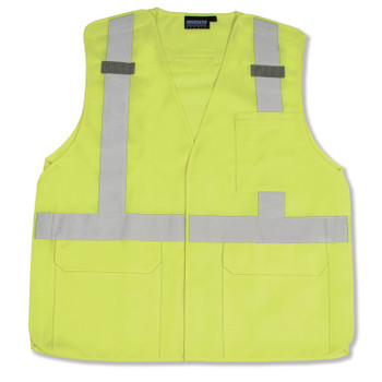 61395 ERB S361 Class 2 Tricot Break-Away Hi Viz Lime 4X Safety Apparel - Aware Wear & Hi Viz Ts