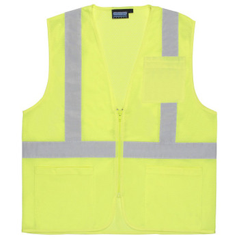 61649 ERB S363P Class 2 Economy Hi Viz Lime X-Large Safety Apparel - Aware Wear & Hi Viz Ts