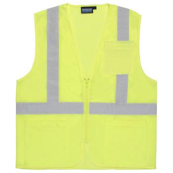 61652 ERB S363P Class 2 Economy Hi Viz Lime 4X Safety Apparel - Aware Wear & Hi Viz Ts