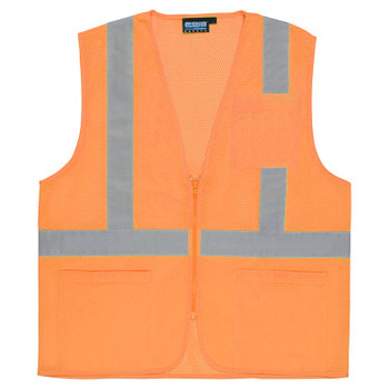 61659 ERB S363P Class 2 Economy Hi Viz Orange Large Safety Apparel - Aware Wear & Hi Viz Ts