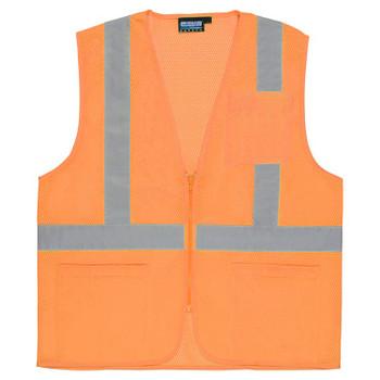61660 ERB S363P Class 2 Economy Hi Viz Orange X-Large Safety Apparel - Aware Wear & Hi Viz Ts