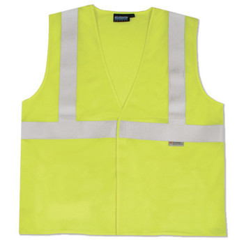 61361 ERB S365 Class 2 Flame Resistant Knit Hi Viz Lime Large Safety Apparel - Aware Wear & Hi Viz Ts