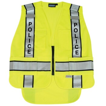 61301 ERB S368 ANSI 207 Tricot Break-Away Hi Viz Lime MD/LG Safety Apparel - Aware Wear & Hi Viz Ts