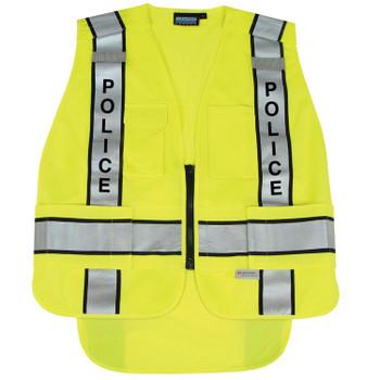 61303 ERB S368 ANSI 207 Tricot Break-Away Hi Viz Lime 3X/ 4X Safety Apparel - Aware Wear & Hi Viz Ts