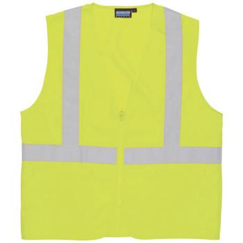61712 ERB S388Z Class 2 Oxford Hi-Viz Lime X-Large Safety Apparel - Aware Wear & Hi Viz Ts