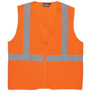 61720 ERB S388Z Class 2 Oxford Hi-Viz Orange Large Safety Apparel - Aware Wear & Hi Viz Ts