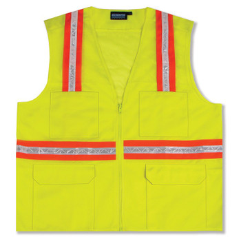 61323 ERB S410 Non-ANSI Surveyor Hi Viz Lime 2X Safety Apparel - Aware Wear & Hi Viz Ts