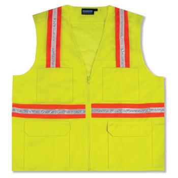61324 ERB S410 Non-ANSI Surveyor Hi Viz Lime 3X Safety Apparel - Aware Wear & Hi Viz Ts