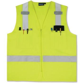 61204 ERB S414 Class 2 Surveyor's Hi Viz Lime 3X Safety Apparel - Aware Wear & Hi Viz Ts