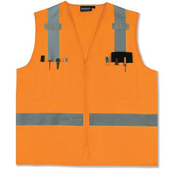 61210 ERB S414 Class 2 Surveyor's Hi Viz Orange X-Large Safety Apparel - Aware Wear & Hi Viz Ts