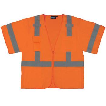 61620 ERB S852 Class 3 Front/Mesh Back Hi Viz Orange Medium Safety Apparel - Aware Wear & Hi Viz Ts