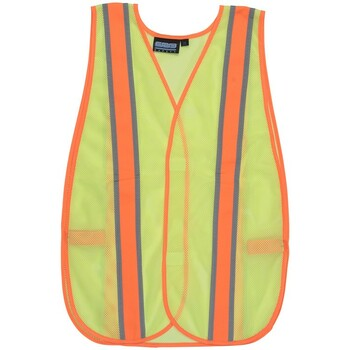 61667 ERB S903 Non ANSI Contrasting Trim Hi Viz Lime OSFM Safety Apparel - Aware Wear & Hi Viz Ts