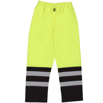 62112 ERB S649 Class E Pants Hi Viz Lime 4X Safety Apparel - Aware Wear & Hi Viz Ts