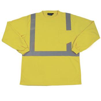 64007 ERB 9007S Class 2 Birdseye Mesh T-shirt Hi Viz Lime 5X Safety Apparel - Aware Wear & Hi Viz Ts
