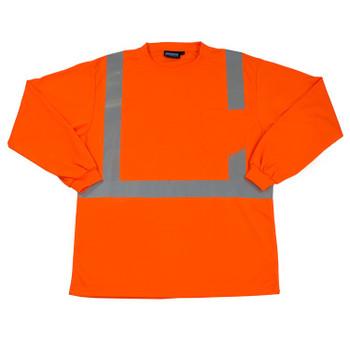 64010 ERB 9007S Class 2 Birdseye Mesh T-shirt Hi Viz Lime LG Safety Apparel - Aware Wear & Hi Viz Ts