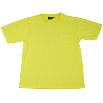 64023 ERB 9006 Non-ANSI T-Shirt Hi Viz Lime 4X Safety Apparel - Aware Wear & Hi Viz Ts