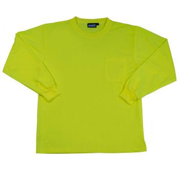 64028 ERB 9007 Non-ANSI T-Shirt Hi Viz Lime XL Safety Apparel - Aware Wear & Hi Viz Ts