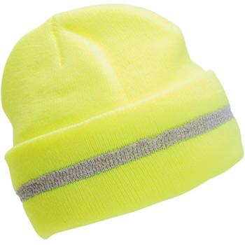 63196 ERB S109 Knit Hat Hi-Viz Lime Safety Apparel - Aware Wear & Hi Viz Ts