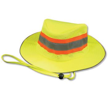 61587 ERB S230 BOONIE HAT Hi Viz Lime Safety Apparel - Aware Wear & Hi Viz Ts