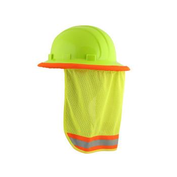 19281 ERB S268 Mesh Neck Shield Hi Viz Lime Safety Apparel - Aware Wear & Hi Viz Ts