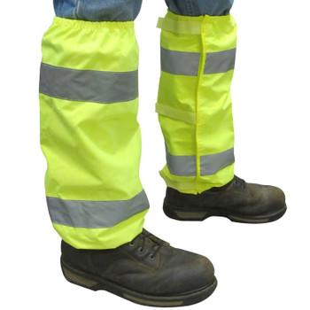 61585 ERB S486 LEG GAITERS Hi Viz Lime Safety Apparel - Aware Wear & Hi Viz Ts