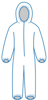 14812 ERB PC127 Coveralls 5X Safety Apparel
