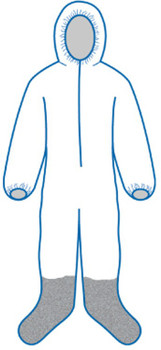 14813 ERB PC261 Coveralls M Safety Apparel