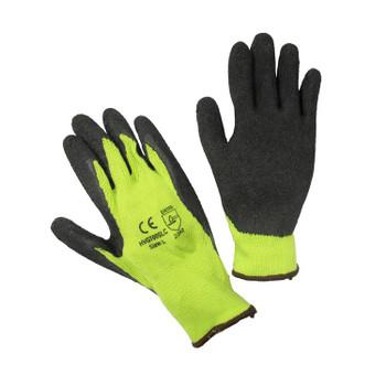 14504 ERB Coated String Hi-Viz Lime, Medium Gloves