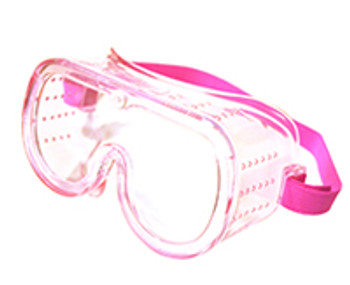 15146 SMALL PERFORATED GOGGLE PINK CLEAR