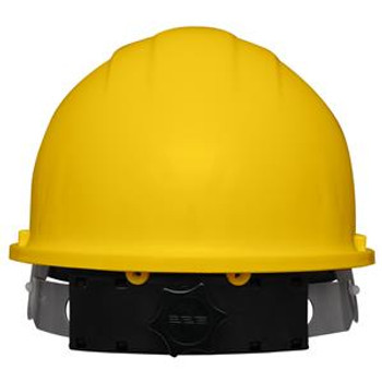Chin strap Hard Hat Yellow 4 point and 2 point  Ratchet Suspension