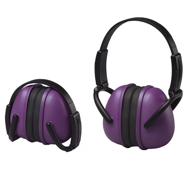 14243 ERB 239 Foldable Ear Muff Purple Hearing Protection