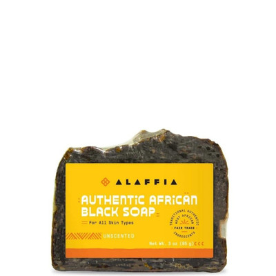 African Black Bar Soap - Unscented - 3 oz