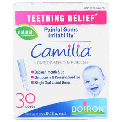 Boiron Camilia Teething Relief Homeopathic Medicine - 30 doses