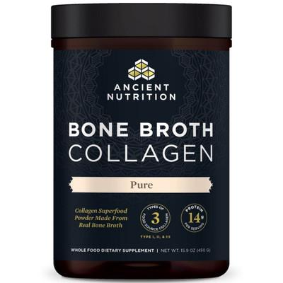 Ancient Nutrition Bone Broth Collagen- Pure - 15.9 oz