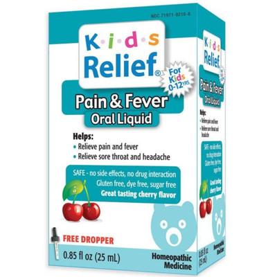 Homeolab USA Kids Relief Pain & Fever Oral Liquid (0.85 fl oz)